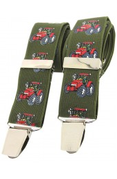 Soprano Red Tractor Braces 35mm X Style Braces