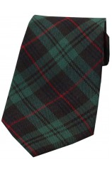Green Tartan Polyester Cotton Mix Tie