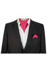 Soprano Silk Twill White Polka Dots On Fusia Ground Cravat