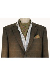 Soprano Silk Twill Country Green Paisley Cravat