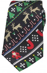 Multi Coloured Christmas Themed Woven Silk Tie