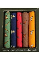 Soprano Country Themed Pack Of Five Cotton Handkerchiefs