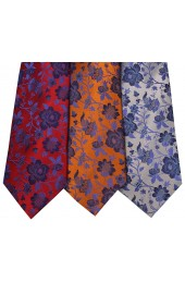 Floral Patterned Pack of 3 Silk Ties