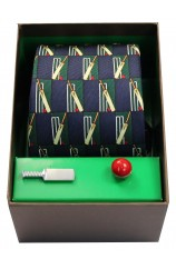 Soprano Cricket Themed Tie Cufflink Set
