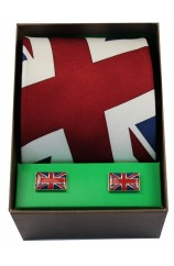 Union Jack Tie Cufflink Set