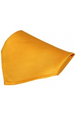 Soprano Plain Gold Diagonal Twill Mens Pocket Square