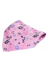 Posh & Dandy Pink Multi Coloured Flowers Luxury Silk Pocket Square