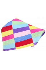 Posh & Dandy Multicoloured Rectangle Pattern Silk Pocket Square