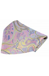 Posh & Dandy Edwardian Paisley on Lemon Silk Pocket Square
