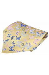 Posh & Dandy Butterflies on Yellow Ground Silk Pocket Square