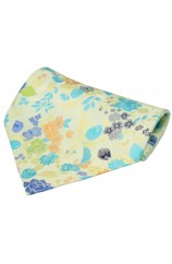 Posh And Dandy Pastel Coloured Flowers Silk Hanky