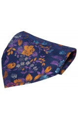 Posh And Dandy Bright Multi Coloured Flowers Luxury Silk Hanky