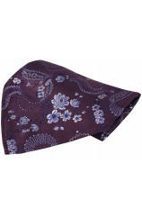 Soprano Purple Floral Patterned Mens Silk Pocket Square