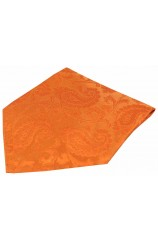 Soprano Orange Paisley Mens Silk Pocket Square