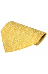 Shades of Gold Link Patterned Silk Hanky