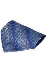 Blue Patterned Luxury Box Silk Hanky
