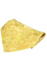 Soprano Gold Flowers Silk Pocket Square