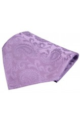 Soprano Lilac Paisley Woven Silk Pocket Square