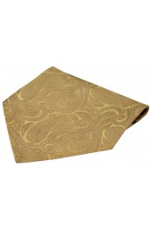 Soprano Champagne Gold Paisley Luxury Silk Hanky