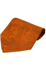 Soprano Burnt Orange Paisley Luxury Silk Hanky