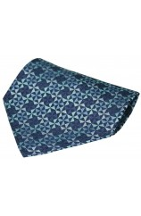Navy And Blue Windmill Design Silk Hanky