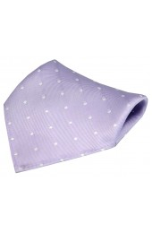 Soprano Lilac and White Polka Dot Silk Pocket Square