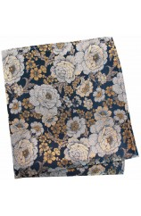Posh and Dandy Gold And Silver Floral Silk Pocket Square