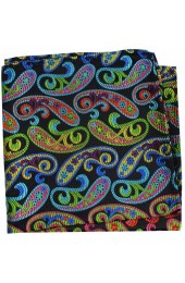 Posh & Dandy Multi Coloured Swirly Paisley Silk Hanky