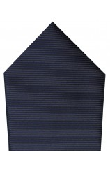 Soprano Plain Navy Twill Polyester Pocket Square