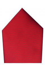 Soprano Plain Red Twill Polyester Pocket Square