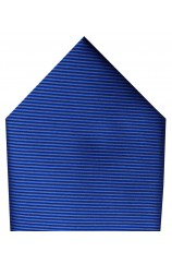 Soprano Plain Royal Blue Twill Polyester Pocket Square
