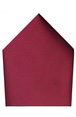 Soprano Plain Wine Twill Polyester Pocket Square