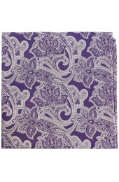 Soprano Lilac Edwardian Paisley Silk Pocket Square