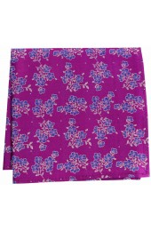 Soprano Magenta Small Flowers Silk Pocket Square