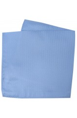 Soprano Sky Blue Herringbone Silk Pocket Square