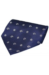 Navy Ships With Anchor And Wheel Silk Hanky
