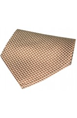 Soprano Camel  And Cream Dogtooth Silk Hanky