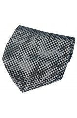 Soprano Black  And Grey Dogtooth Silk Hanky