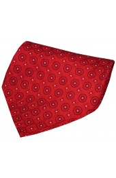 Soprano Red Circular Chain Design Silk Handkerchief