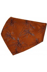 Soprano Burnt Orange Palm Tree's Silk Hanky
