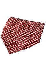 Soprano Red With White And Blue Spots Silk Hanky