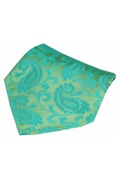 Soprano Jade Paisley Woven Silk Pocket Square