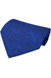 Soprano Blue Ground Paisley Luxury Silk Hanky