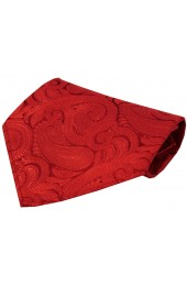 Soprano Red Ground Paisley Luxury Silk Hanky