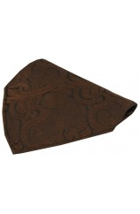 Soprano Brown Ground Paisley Luxury Silk Hanky