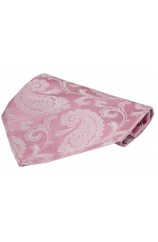 Soprano Pink Cotton Candy Paisley Silk Hanky