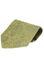 Soprano Wedding Gold Paisley Silk Hanky