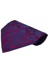 Soprano Luxury Plum And Blue Paisley Silk Hanky