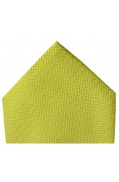 Soprano Canary Yellow Herringbone Silk Hanky
