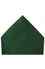 Soprano Racing Green Herringbone Silk Hanky